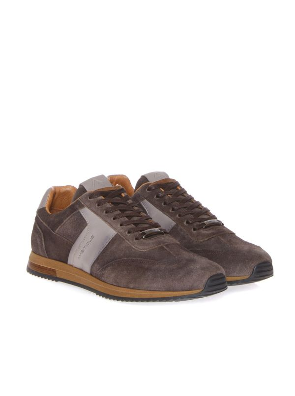 AMBITIOUS SNEAKERS CASUAL UOMO 10967 CAMOSCIO TAUPE