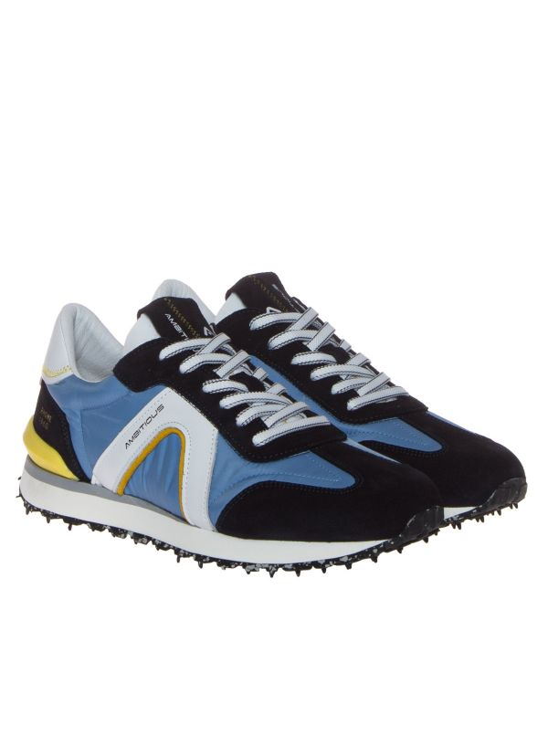 AMBITIOUS 11538-T3158AM SNEAKERS UOMO TESSUTO BLU JEANS