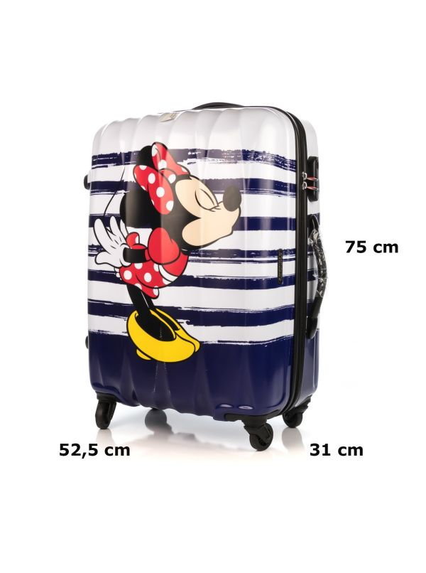 AMERICAN TOURISTER DISNEY LEGENDS 19C008-12 TROLLEY MINNIE KISS