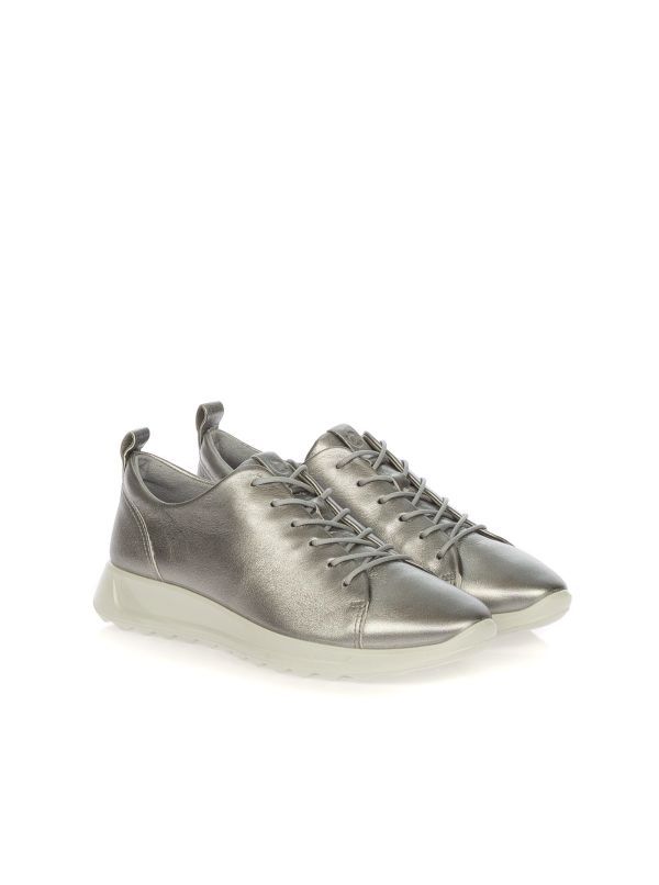 ECCO 292303-01708 SNEAKERS DONNA PELLE ARGENTO