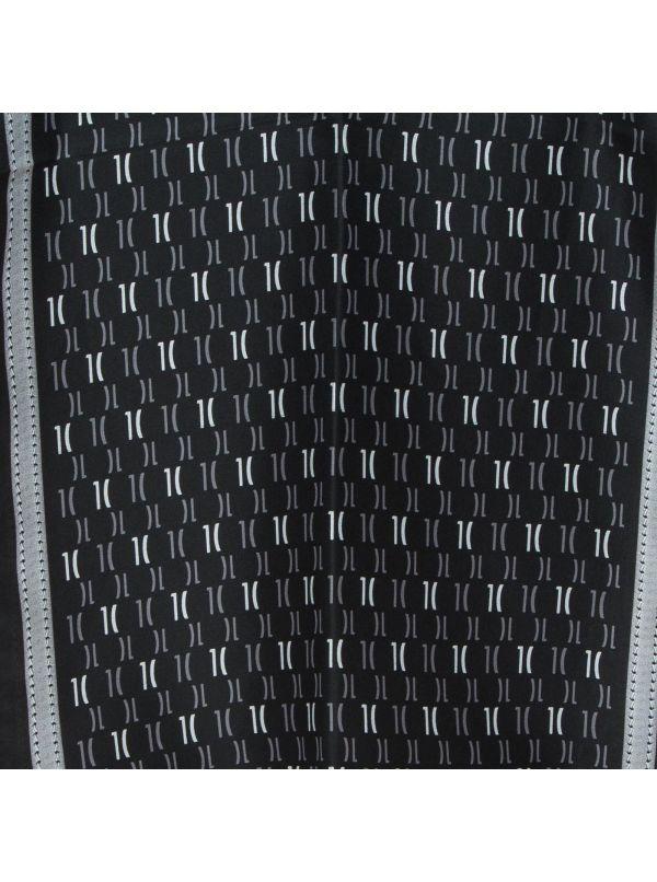 ALVIERO MARTINI 1^CLASSE FOULARD DONNA 4048TWIL-1 MONOGRAM NERO