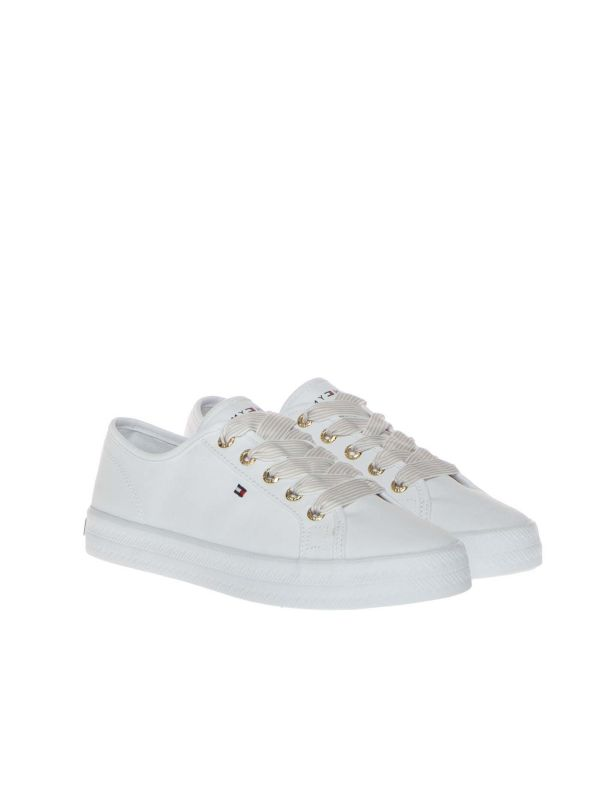 TOMMY HILFIGER FW0FW04848 SNEAKERS DONNA ESSENTIAL BIANCO