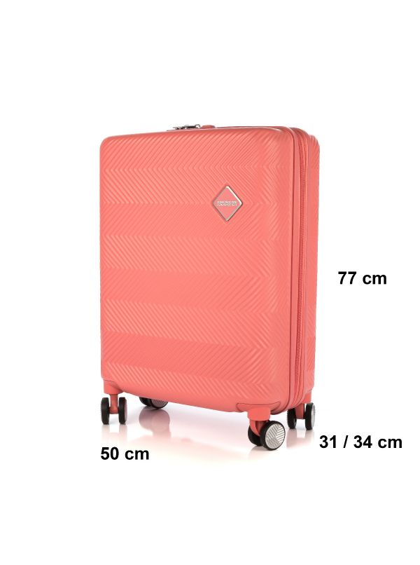 AMERICAN TOURISTER FLYLIFE 81G003-80 TROLLEY GRANDE CORAL PINK