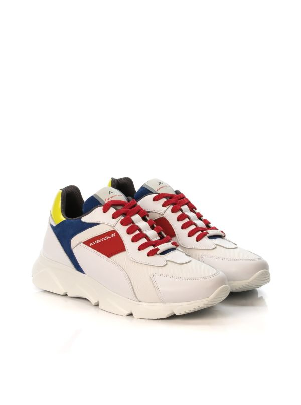 AMBITIOUS 8894 SNEAKERS UOMO PELLE BIANCO