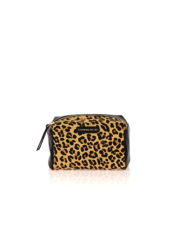 PASH BAG BY L'ATELIER DU SAC TAXI DRIVER TROUSSE DONNA 9244 NERO-ANIMALIER