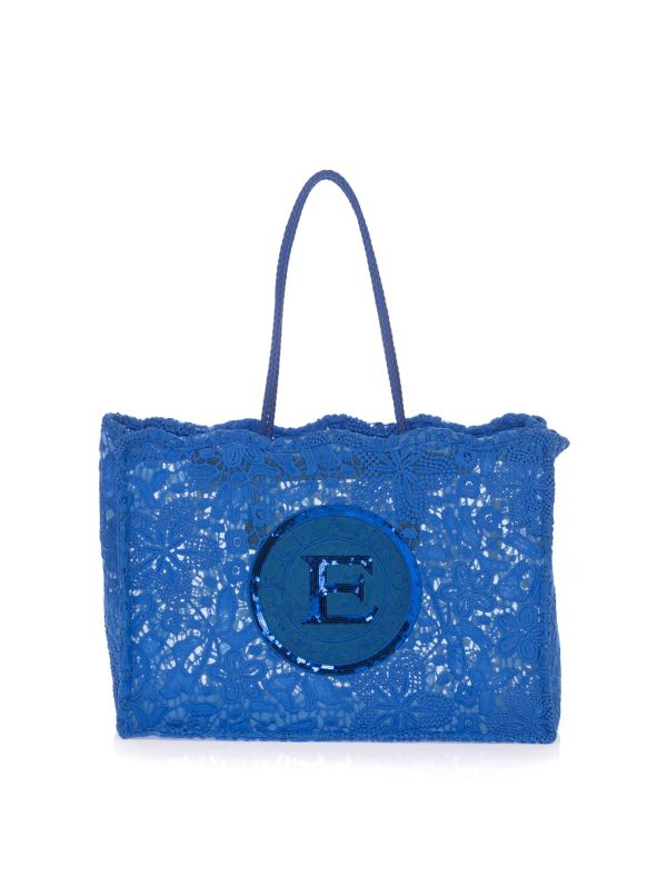 ERMANNO SCERVINO SHOPPING BAG DONNA FATIN 925 BLUETTE