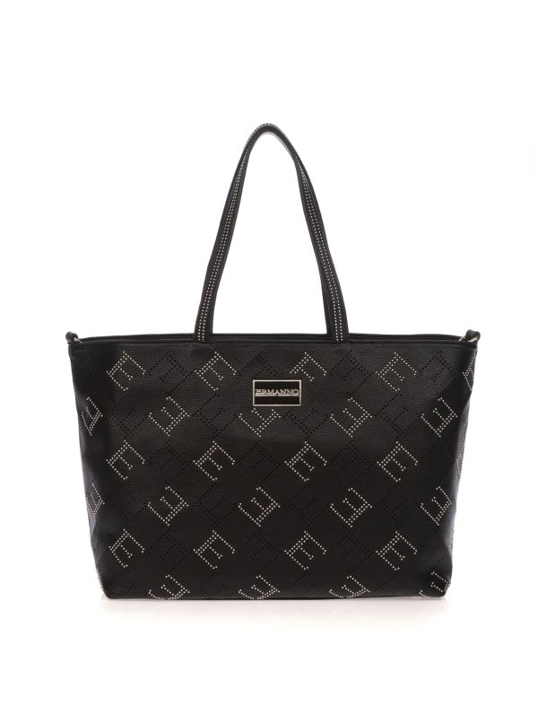 ERMANNO SCERVINO SHOPPING BAG 972 GRACE NERO