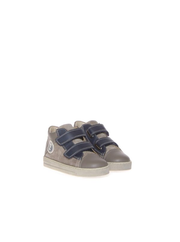 FALCOTTO SNEAKERS BAMBINO AGUAM VL 1B10 01 PIOMBO-NAVY STRAPPI
