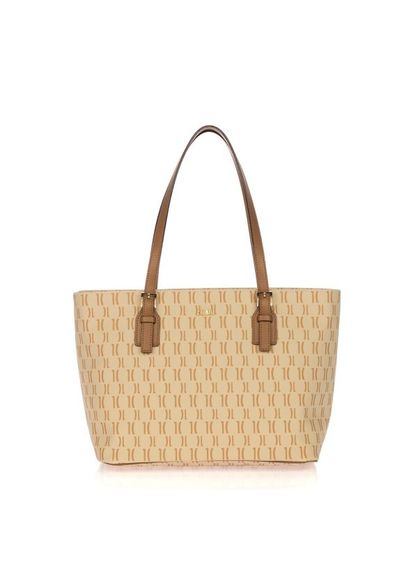 ALVIERO MARTINI 1^CLASSE SHOPPING BAG MEDIA B0019615-920 BEIGE LOGO