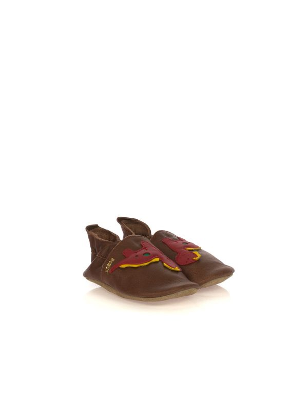 BOBUX SOFT SOLES 01214 DINOSAURO PELLE MARRONE