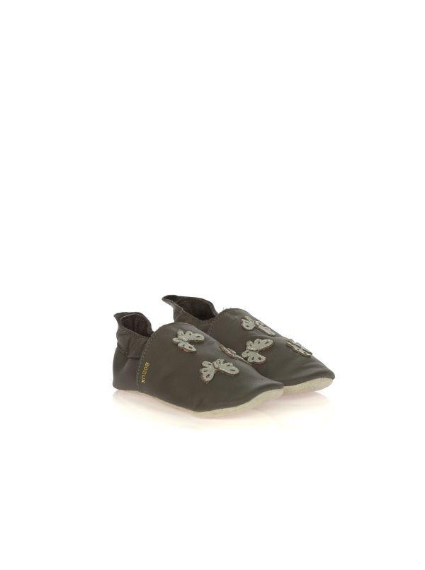 BOBUX SOFT SOLES 05210 FARFALLE PELLE GRIGIO