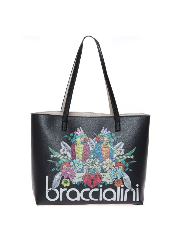 BRACCIALINI BRITNEY B14803 SHOPPING BAG DONNA NERA