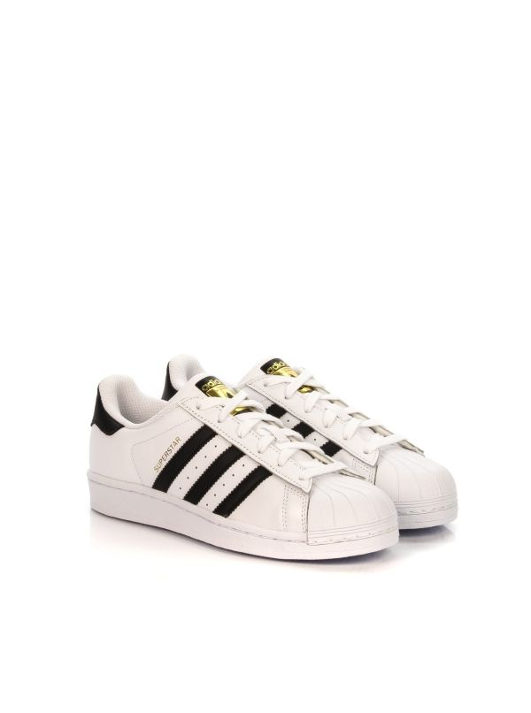 ADIDAS SUPERSTAR SNEAKERS DONNA C77124 BIANCO-NERO