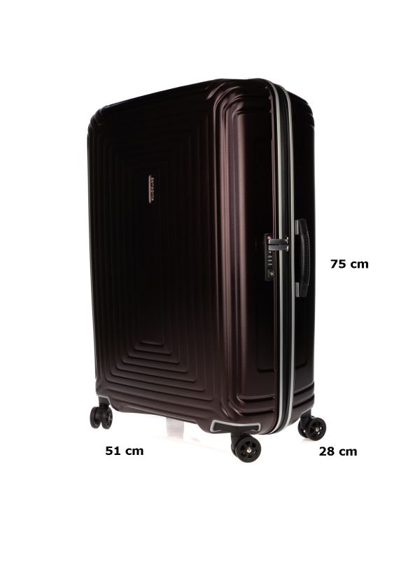 SAMSONITE TROLLEY MEDIO-GRANDE NEOPULSE DLX CB6003 10 VIOLA