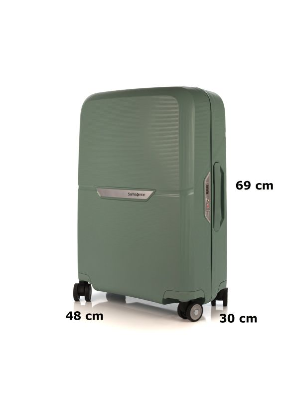 SAMSONITE MAGNUM TROLLEY MEDIO-PICCOLO CK6002-4 VERDE