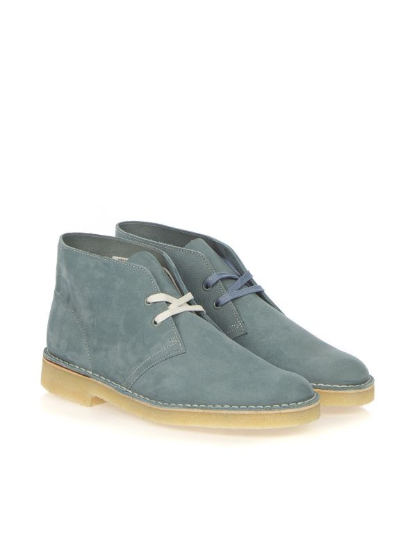 CLARKS ORIGINALS DESERT BOOT NUBUK LIMITED AZZURRO
