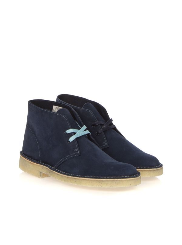 CLARKS ORIGINALS DESERT BOOT NUBUK LIMITED BLU