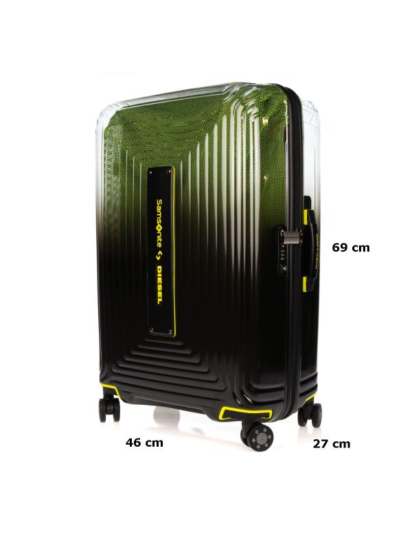 SAMSONITE TROLLEY MEDIO-PICCOLO NEOPULSE X DIESEL CW8002 19 NERO-VERDE