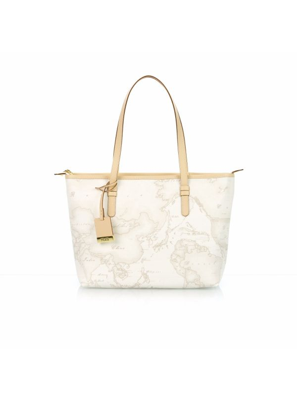 ALVIERO MARTINI 1^CLASSE SHOPPING BAG DONNA D0066188-900 GEO WHITE
