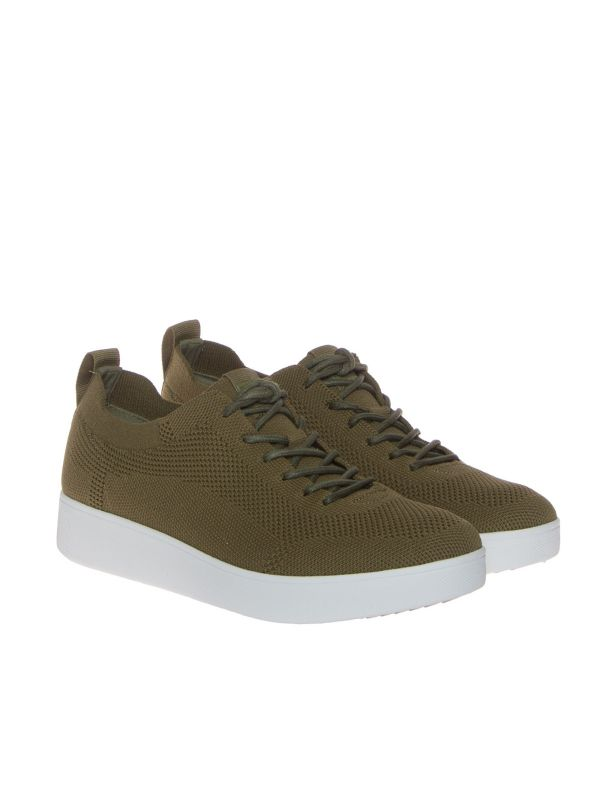 FITFLOP RALLY DR4-833 SNEAKERS MAGLINA DONNA VERDE OLIVA