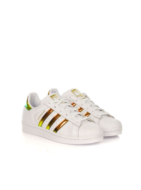 ADIDAS SNEAKERS DONNA SUPERSTAR W HOLOGRAM EG2918 BIANCO-MULTICOLORE