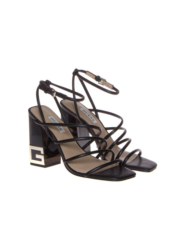 GUESS TACEY SANDALO DONNA PELLE NERA