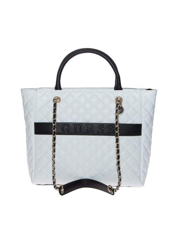 GUESS BORSA A MANO DONNA HWVG7970230 ILLY BIANCO-NERO