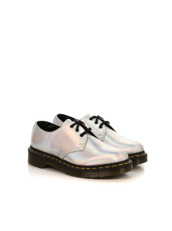 DR. MARTENS STRINGATA DONNA 1461 METALLIC RAINBOW