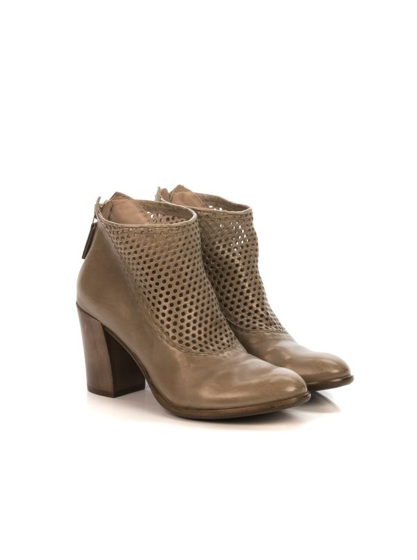 HUNDRED 100 W632-06 TRONCHETTO DONNA PELLE TAUPE