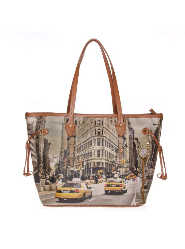 Y-NOT SHOPPING BAG DONNA 319 NY CUOIO