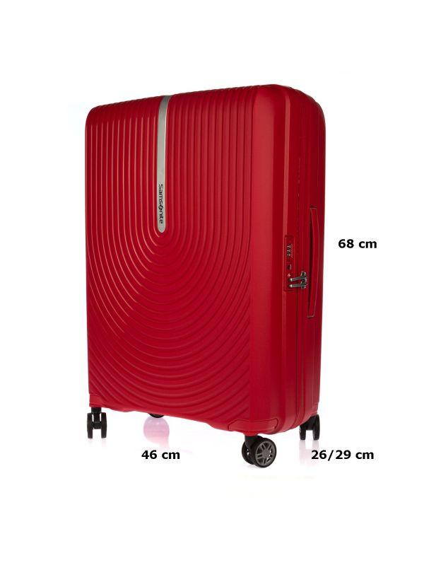 SAMSONITE TROLLEY MEDIO KD8002-0 HI-FI ROSSO