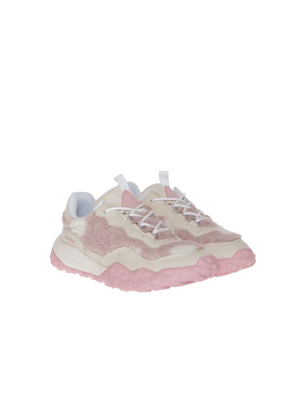 FLOWER MOUNTAIN FOR NATURINO OKIRA 1E03 SNEAKERS BAMBINA ROSA