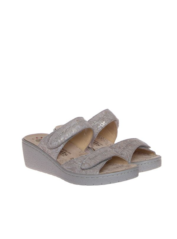 MOBILS BY MEPHISTO PAULA CIABATTA CON ZEPPA DONNA SUEDE TAUPE