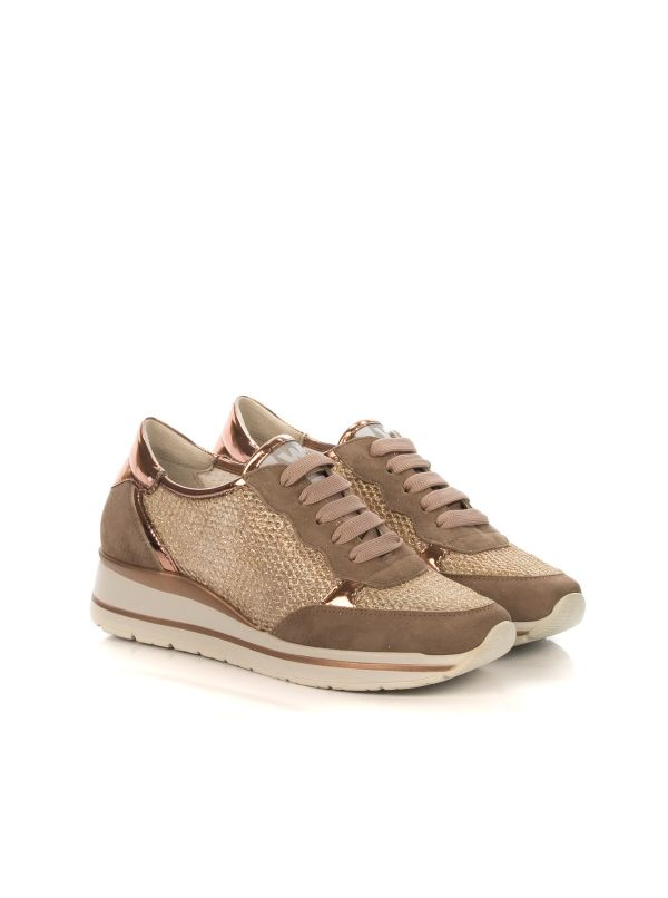 WALK BY MELLUSO R20033 SNEAKERS DONNA CAMOSCIO RAME