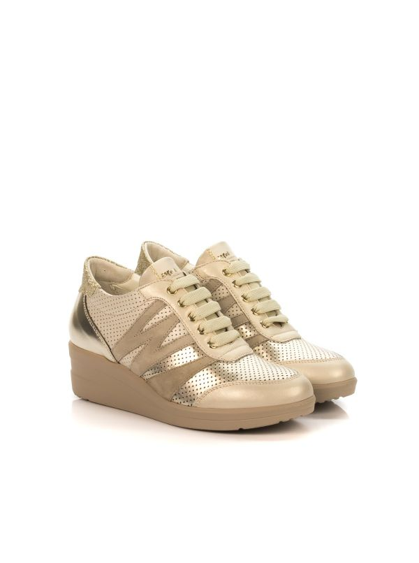 WALK BY MELLUSO R20136 SNEAKERS DONNA PELLE ORO