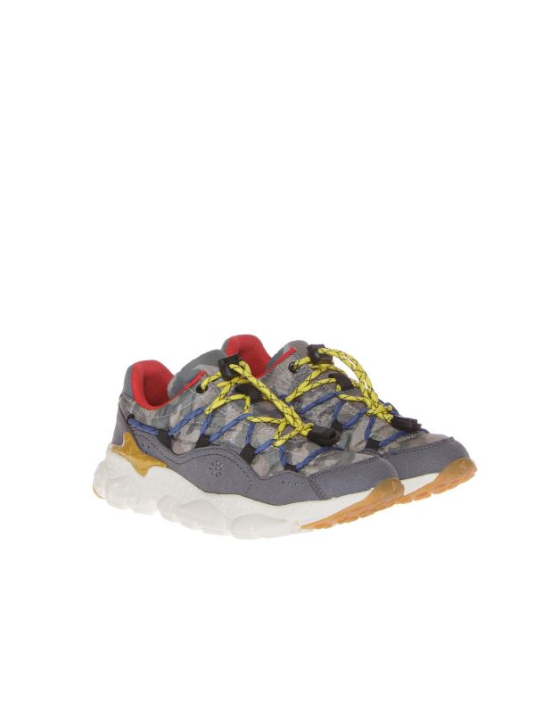 FLOWER MOUNTAIN FOR NATURINO RAIKIRI 1B14 SNEAKERS BAMBINO MILITARE