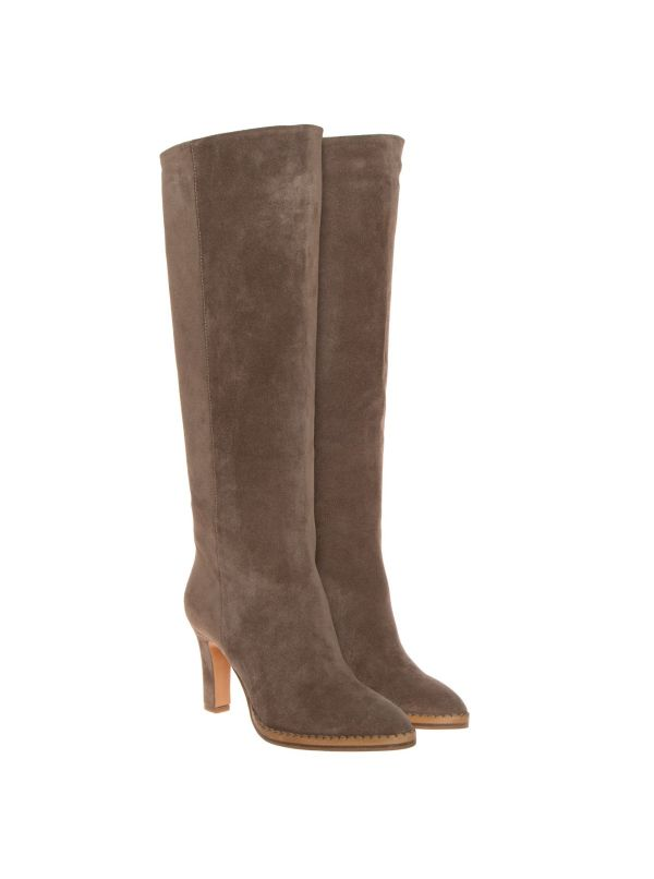 THE SELLER STIVALE DONNA S9043 CAMOSCIO TAUPE