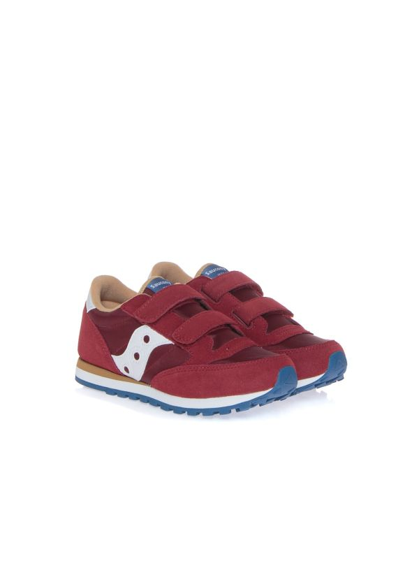 SAUCONY SNEAKERS BAMBINO SK263338 JAZZ BORDEAUX STRAPPI