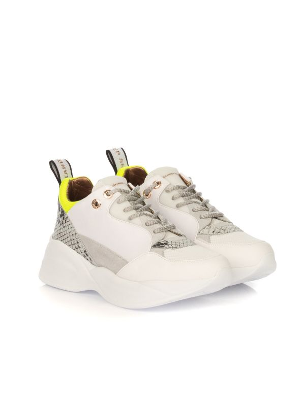 ALEXANDER SMITH SNEAKERS DONNA SP83496 BIANCO-GIALLO