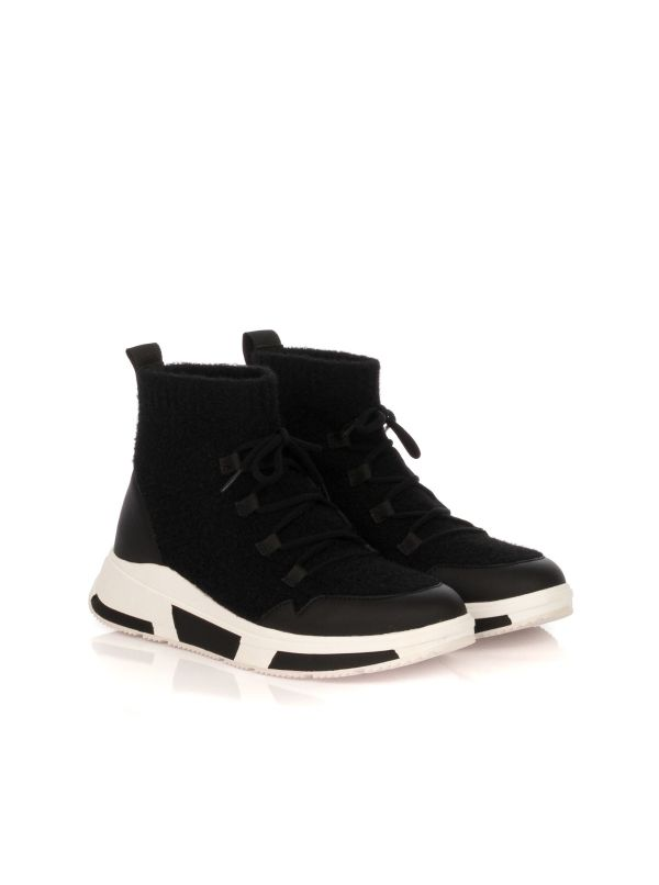 FITFLOP SNEAKERS DONNA COMFFKINT SOCKS BOOT Y28-001 NERO