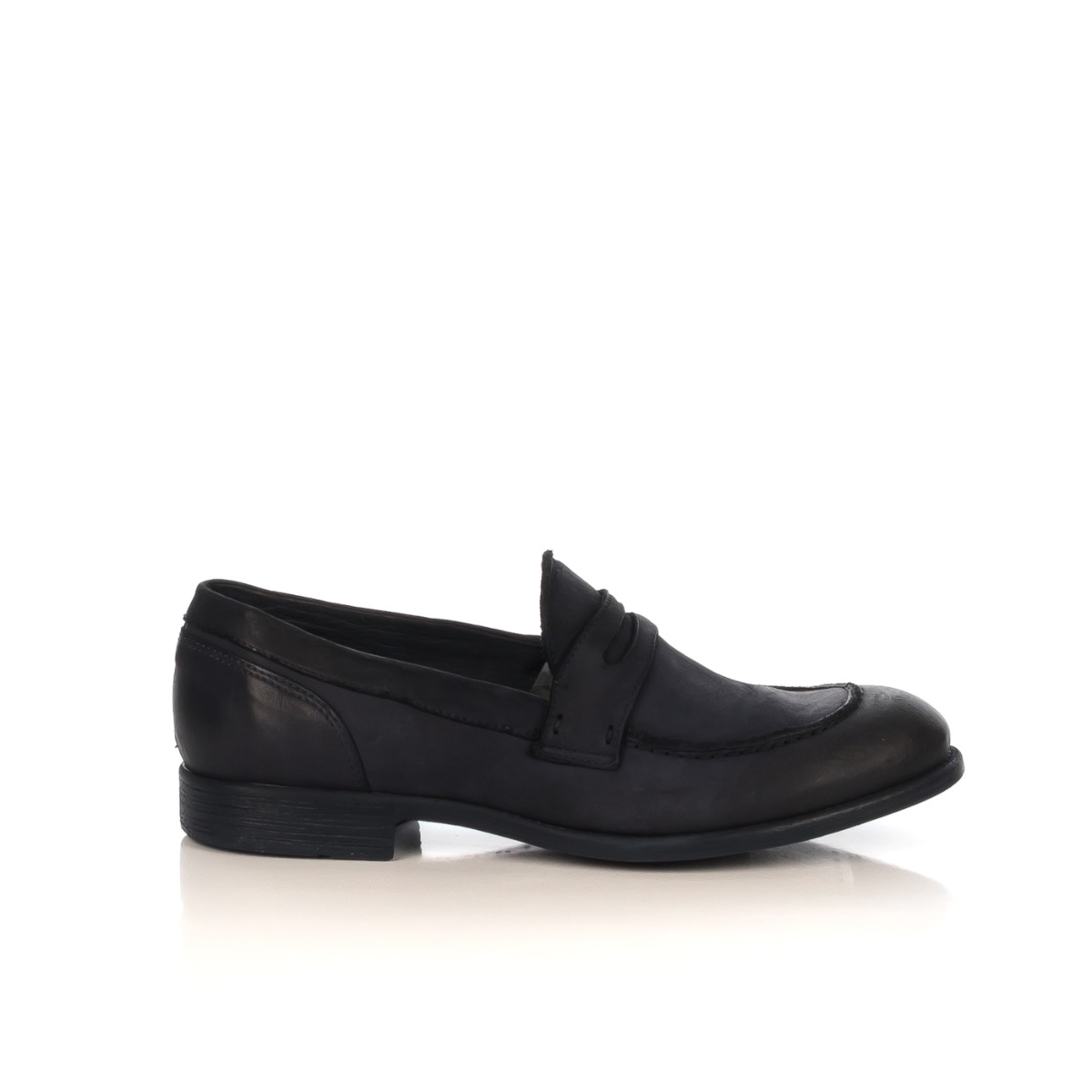 100 Pelle Uomo Blu Shoecenter Mocassino Neri M39401 Hundred 8vnmNO0w